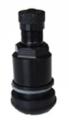 Metallventil Schwarz mit Kunststoffring